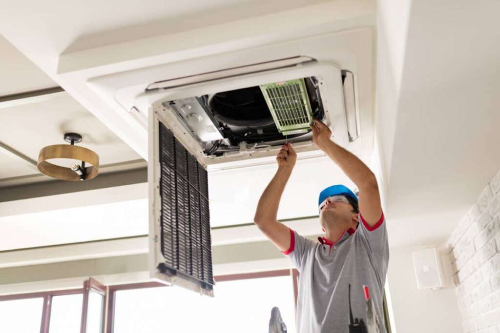 aircond installation malaysia expert in action