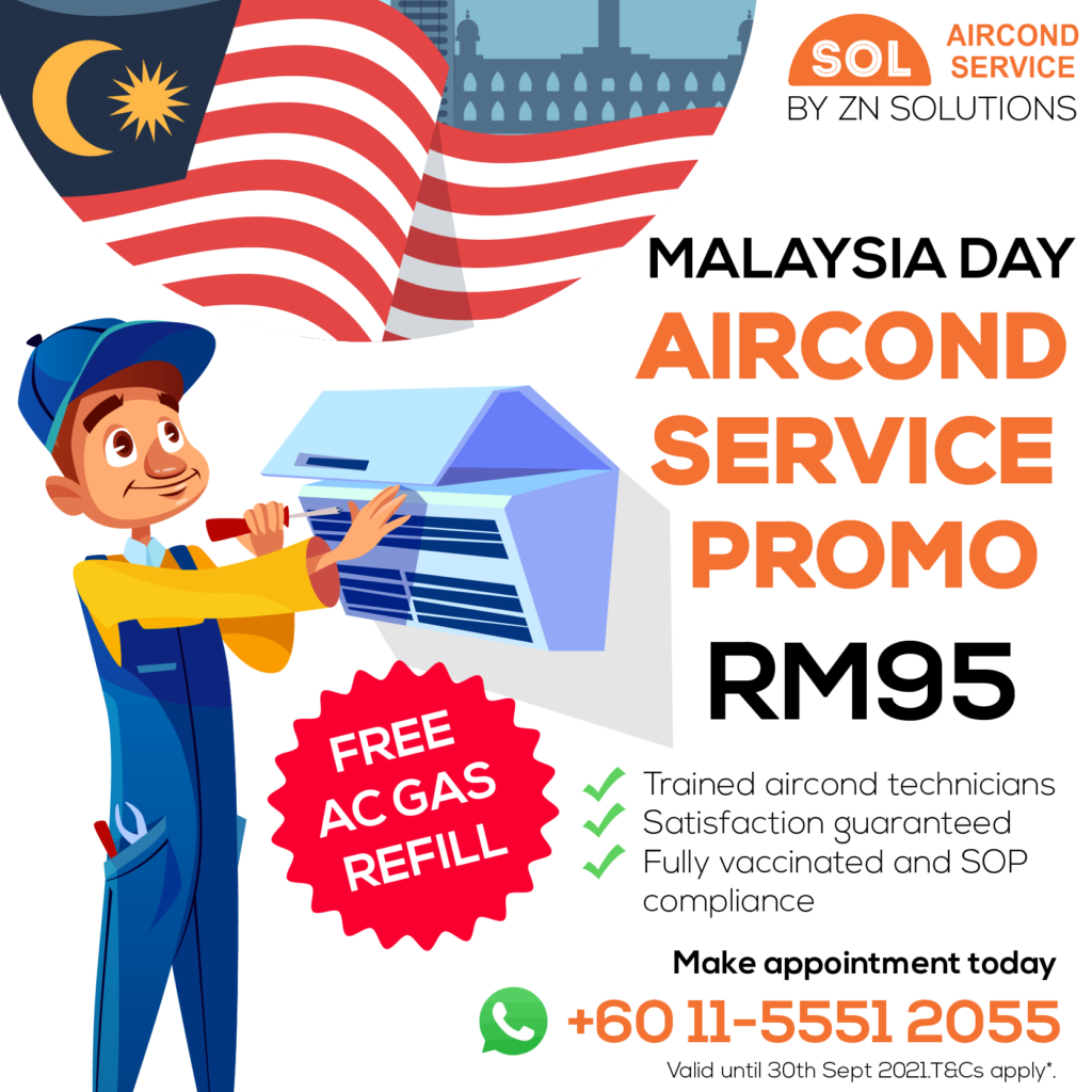 aircond service price RM95 for malaysia day