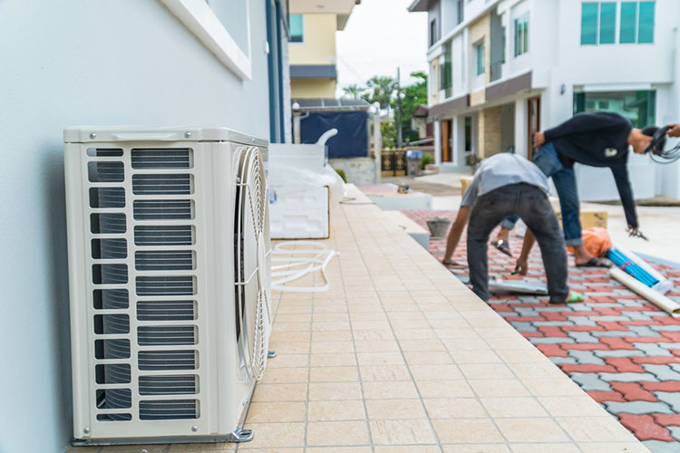 aircond service team preparing for the installation of air conditioners in kuala lumpur