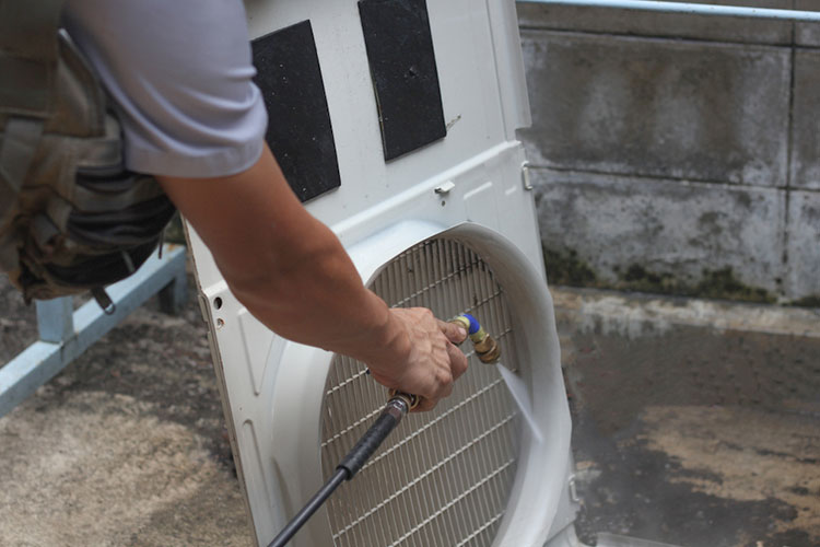 washing parts of air conditioner